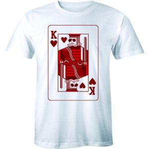 King of Hearts Real Players Gambling Men's T-shirt